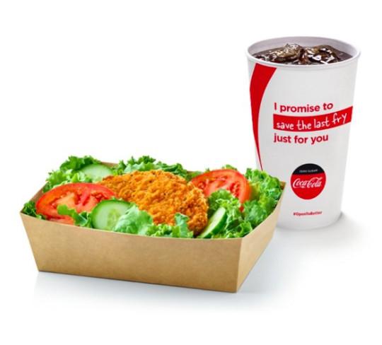crispy chicken salad meal