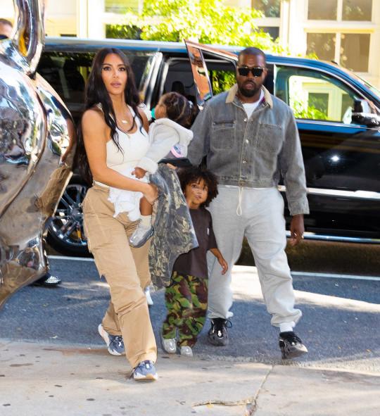 Kim Kardashian, Kanye West take their kids North West, Saint West, Chicago West, Psalm West.
