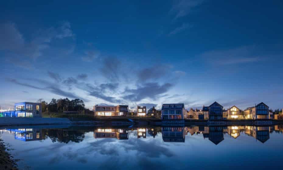Beaumont Lake, Silverlake Dorset, at night.