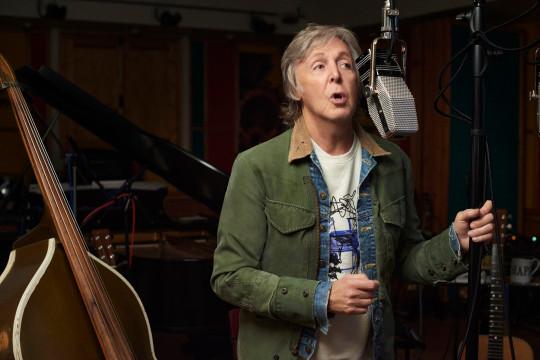 Sir Paul McCartney in the studio