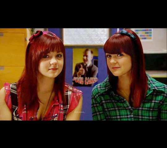 Megan Prescott and Kathryn Prescott in Skins