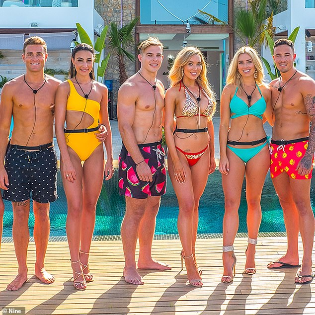Halted: TV Tonight reported last weekend that construction of Love Island's famous villa was shut down, after producers failed to submit a Covid safety plan to the local council. Pictured: Love Island Australia season 1 cast