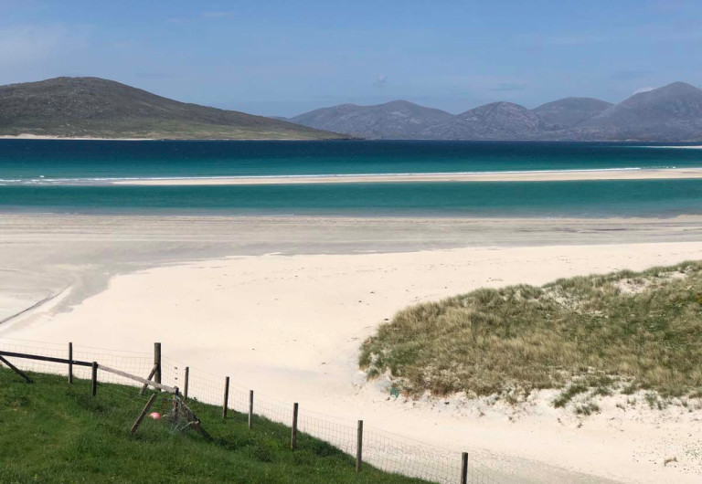 beach on outer hebrides
