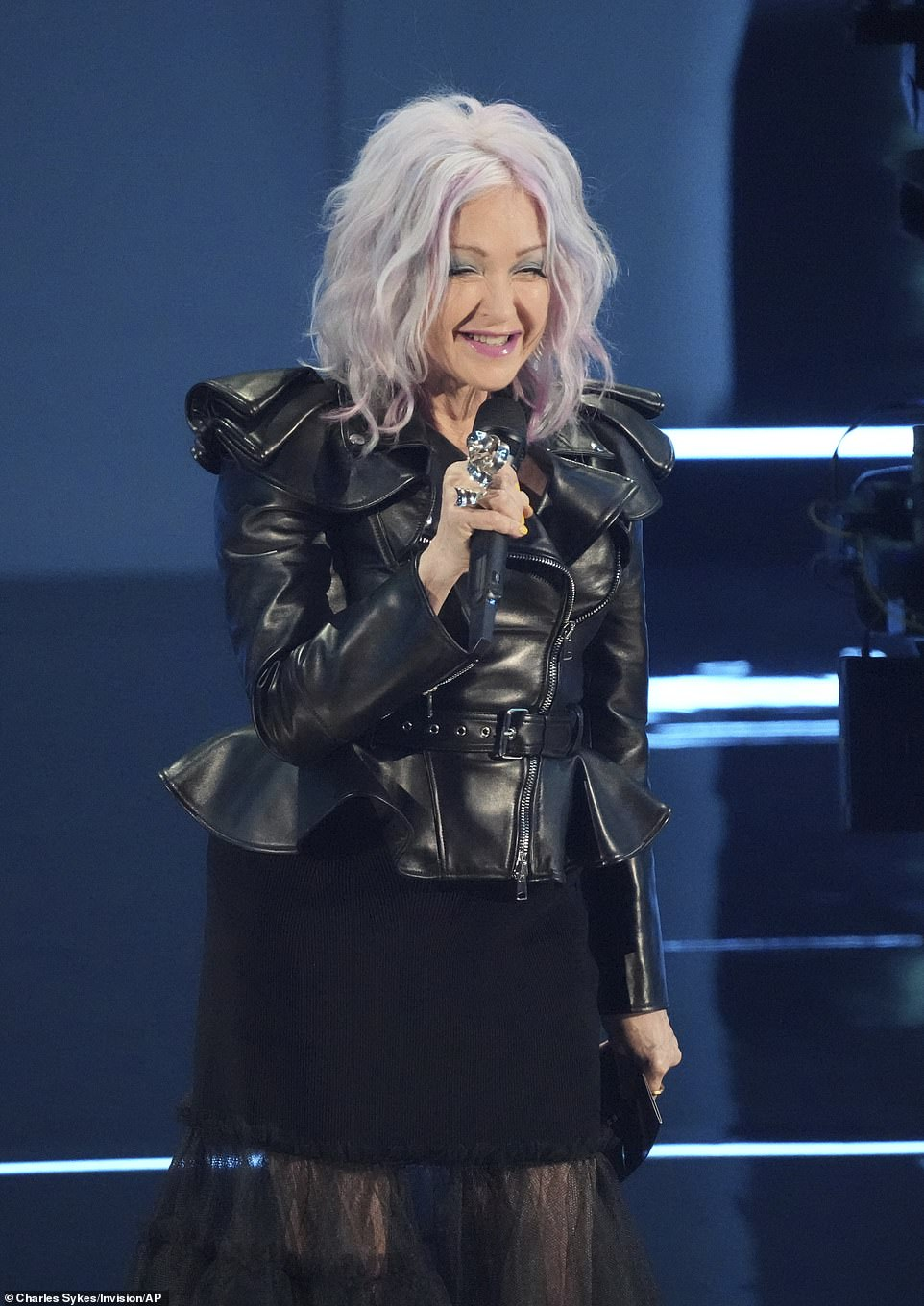 Moon person:Moon person: 'I won a moon person at the very first VMAs in 1984. Things are a little different now. Yeah, girls wanna have fun. But we also want to have funds. Equal pay. Control over our bodies! You know, fundamental rights,' Lauper said to huge applause