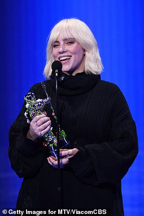 Billie wins: Billie Eilish wins the Video for Good award for Your Power