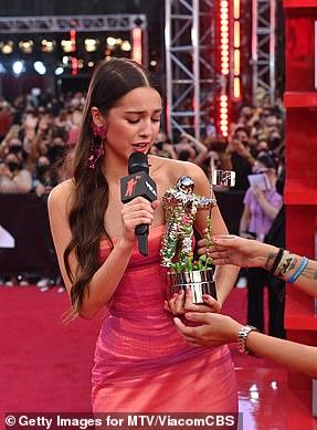 Third: Olivia Rodrigo wins her third award for Push Performance of the Year