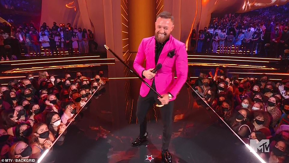 Conor presents:Mixed martial arts superstar Conor McGregor presented the award for Artist of the Year, which was won by Justin Bieber