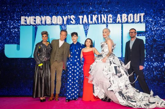 Richard E Grant and co-stars at Jamie premiere