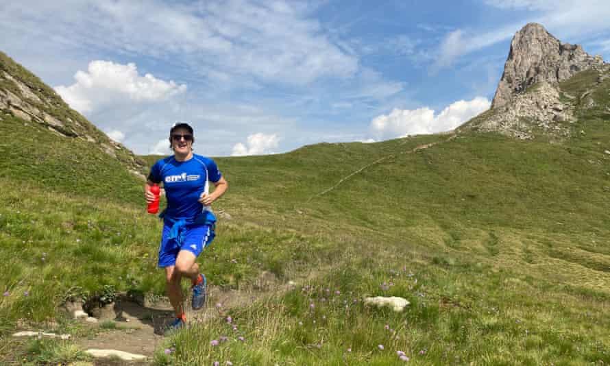 Trail running coach Candide Gabioud.