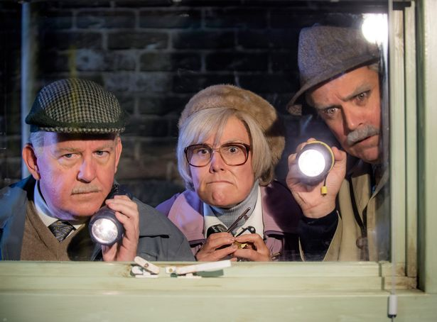 Jack (FORD KIERNAN), Isa (JANE MCCARRY), Victor (GREG HEMPHILL)