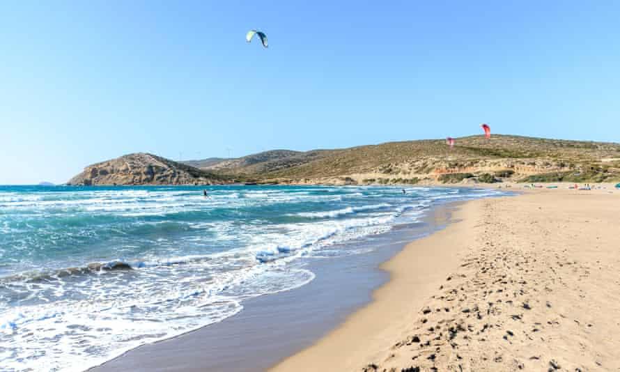 One of Rhodes' celebrated beaches – Prasonisi.