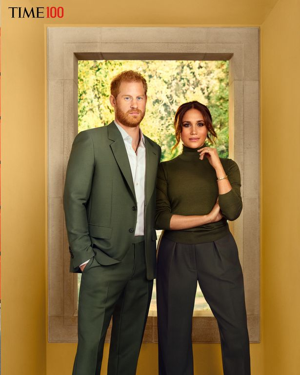 The images of Harry and Meghan were taken at their home in California