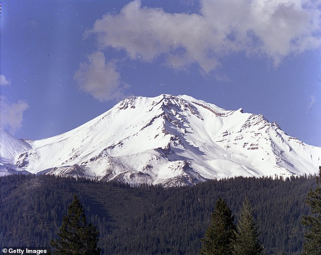 A photo of Mount Shasta from August 1973 shows it thoroughly carpeted in snow.There's about one square mile of glacier ice left on Mount Shasta today, less than half of what was there in the early 1980s