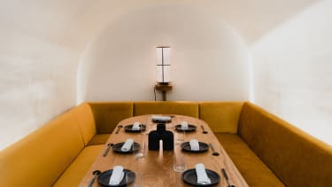 Inside one of the intimate private booths