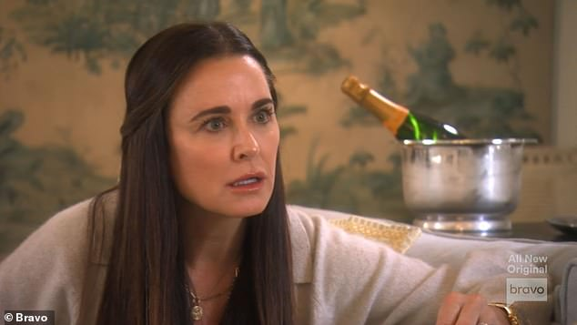 Stunned reaction:The 50-year-old reality star opened up to Kyle Richards, 52, during the season 11 episode titled 'A Tale Of Two Accidents' about the recent drama in her life