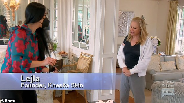 Skin specialist:Lejla, the founder of Knesko Skin, came over to Kathy's house to give the women facials
