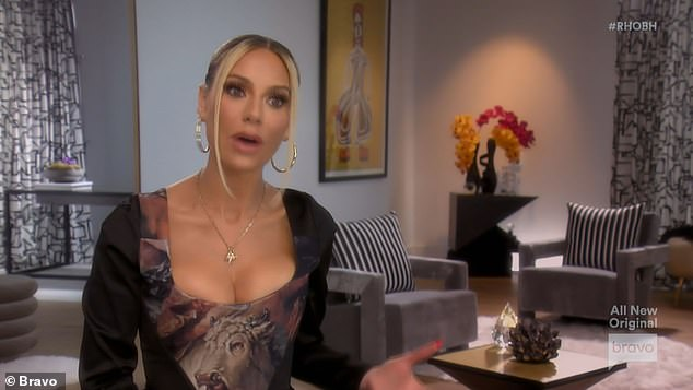 Bridal line:Dorit decked the inside of her house with white flowers to display her new bridal line