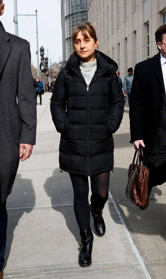 Actress Allison Mack.