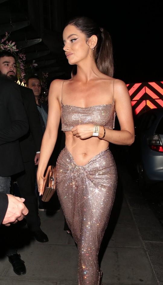 Maura Higgins seen attending National Television Awards 2021
