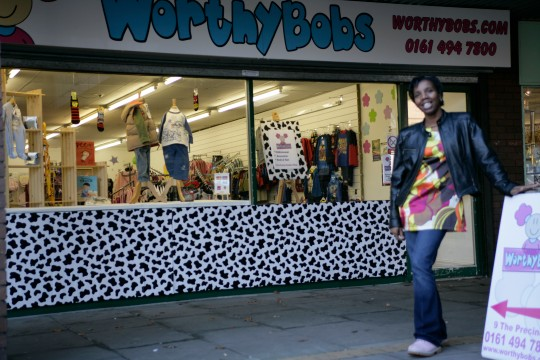 Claire Worthington with her children's clothes store