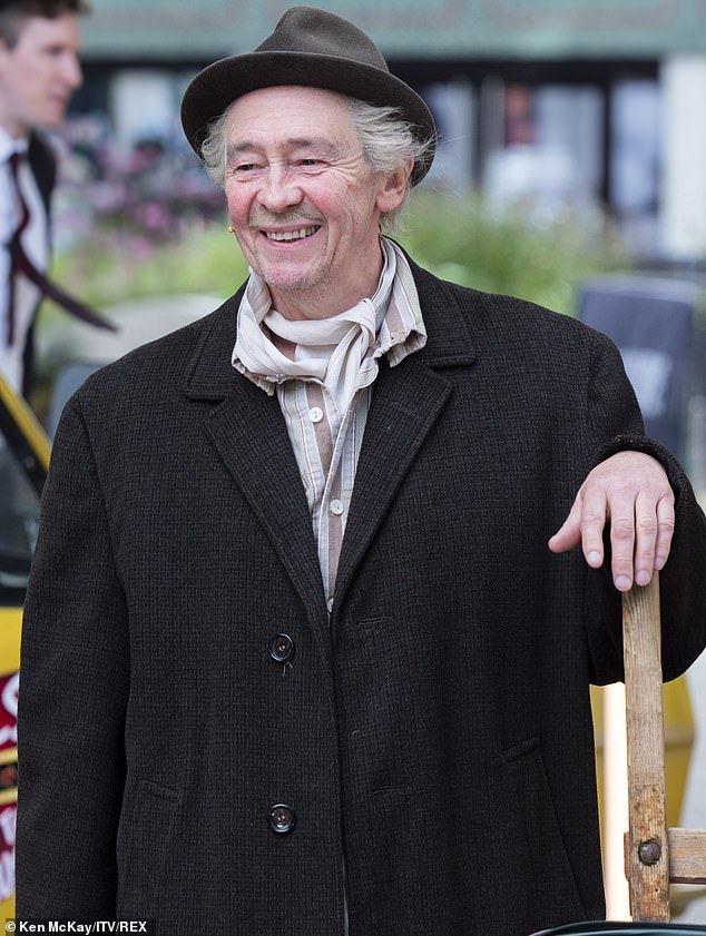 Center stage: The controversial musical number was led by Welsh comedian Paul Whitehouse who takes on the role of Granddad in the WestEnd adaptation of the classic sitcom