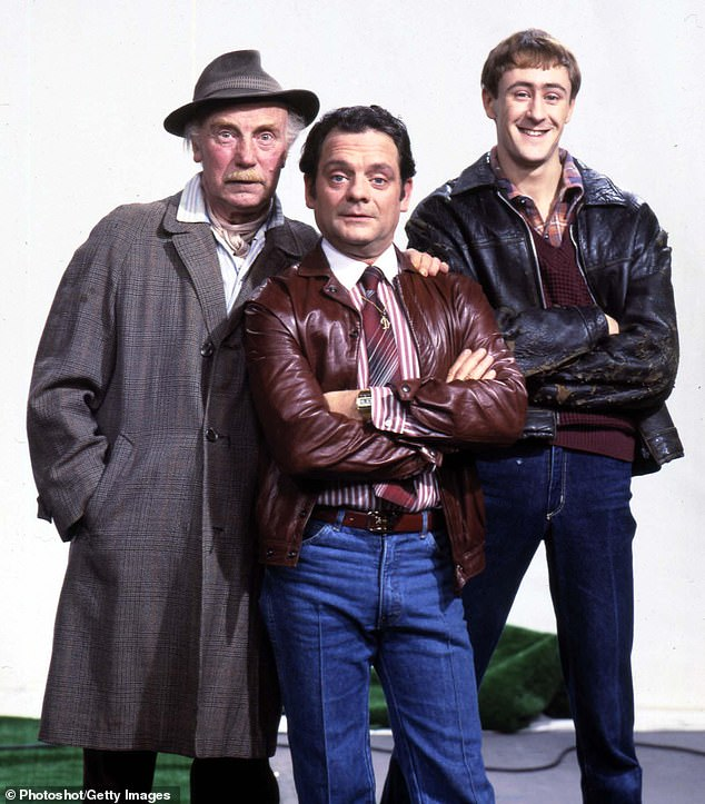 Legacy: Only Fools And Horses The Musical was the last thing the show's creator John Sullivan worked on before his death in 2011 (pictured:Lennard Pearce; David Jason And Nicholas Lyndhurst in character on the show)