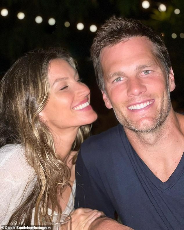 He came down with the virus:Tom Brady also said that after he won the Super Bowl he came down with COVID-19. Seen with wife Gisele Bundchen