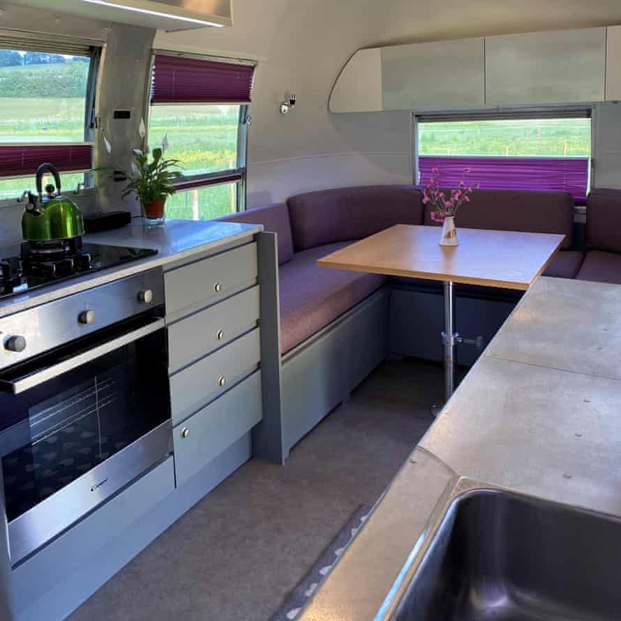The vans interior