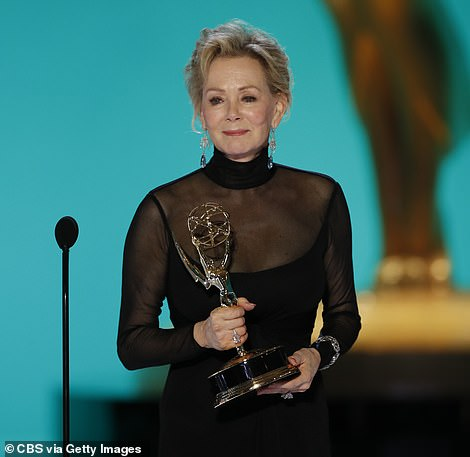 Veteran star: The first lead award of the evening was for Lead Actress in a Comedy Series, which went to veteran star Jean Smart. Her touching speech included a tribute to her late husband Richard Gilliland, who died earlier this year