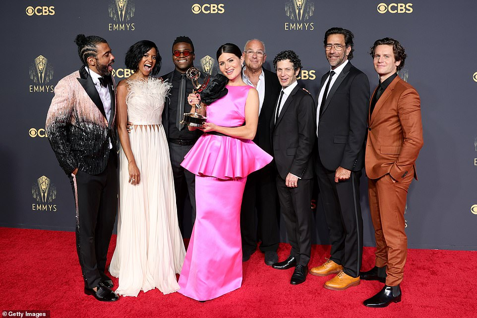 Almost everyone:The musical's writer and star Lin-Manuel Miranda wasn't present on stage, but other actors including Lamar Odom Jr., Daveed Diggs, Renée Elise Goldsberry and Phillipa Soo accepted it