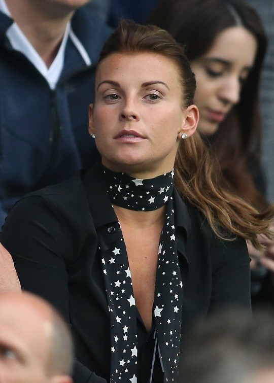 Coleen Rooney looks on during the UEFA Euro 2016 Group B match between Slovakia and England at Stade Geoffroy-Guichard on June 20, 2016