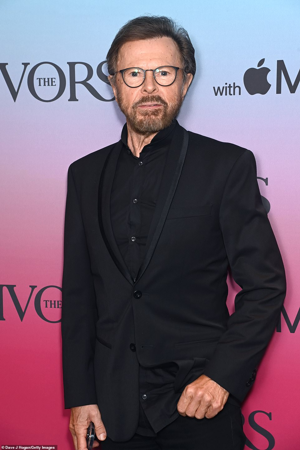 Here he is! ABBA starBjorn Ulvaeus was in attendance in a sleek black suit in the wake of news of the group's new music