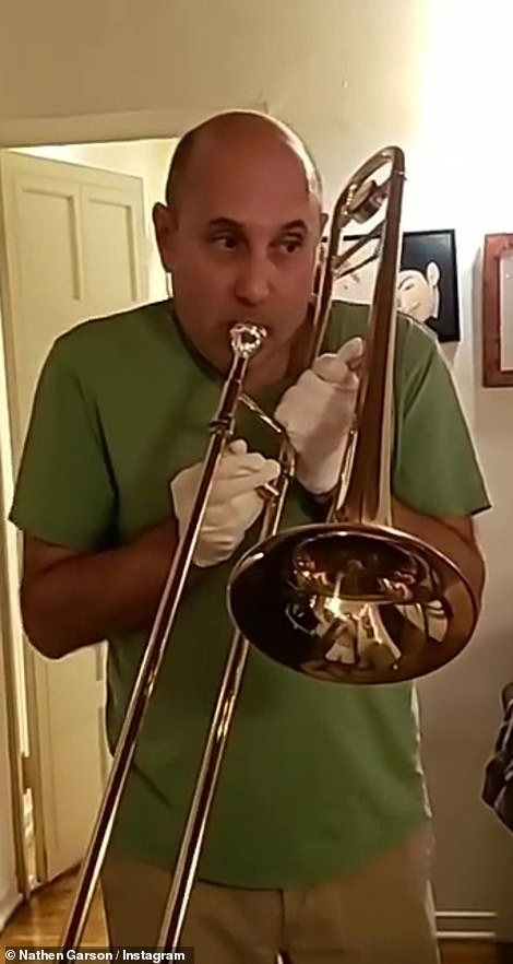 Precious moments: Nathen included some of his favorite shots of Willie, as well as a playful video of him playing the trombone