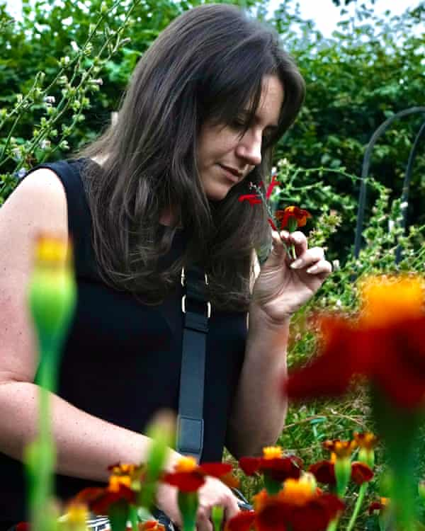Writer Lorna Parkes in Ripley Castle's walled gardens searching out fresh botanicals.