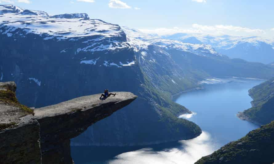 The 'troll's tongue' in Norway.