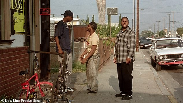 In a scene: The hilarious film about pot smokers who don't do much other than sit outside their house starred Ice Cube, Chris Tucker