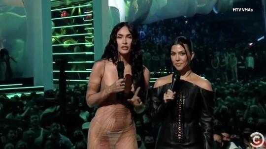 Megan Fox and Kourtney Kardashian at the VMAs