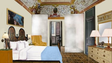 Architectural drawing of palace bedroom