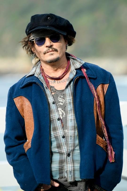Johnny Depp at film festival