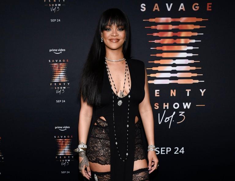 Rihanna attends her Savage X Fenty Show Vol. 3 premiere