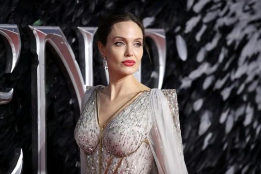 Angelina Jolie at Maleficent screening
