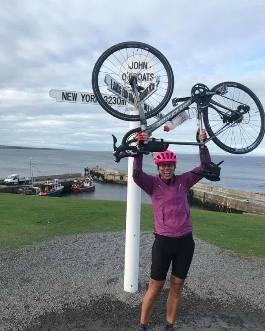Tracy Park cycled from Lands End to John o'Groats.