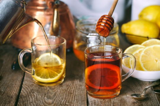 Lemon Tea with honey.