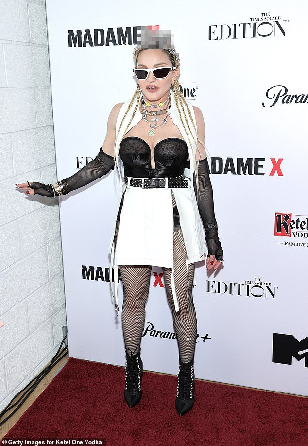 You gotta friend: Madonnaat the premiere of her new documentary concert film Madame X, held at The Edition Hotel Times Square on Thursday