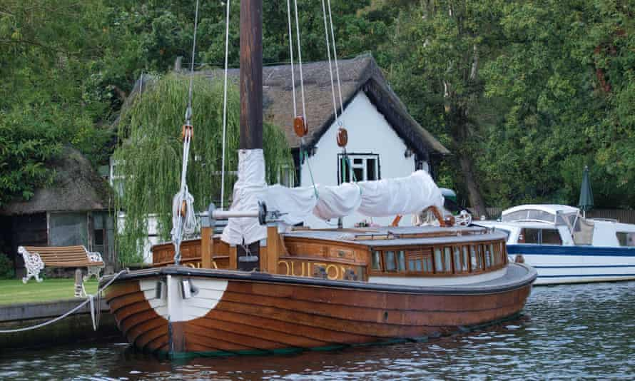 The Ardea moored up in the Broads.