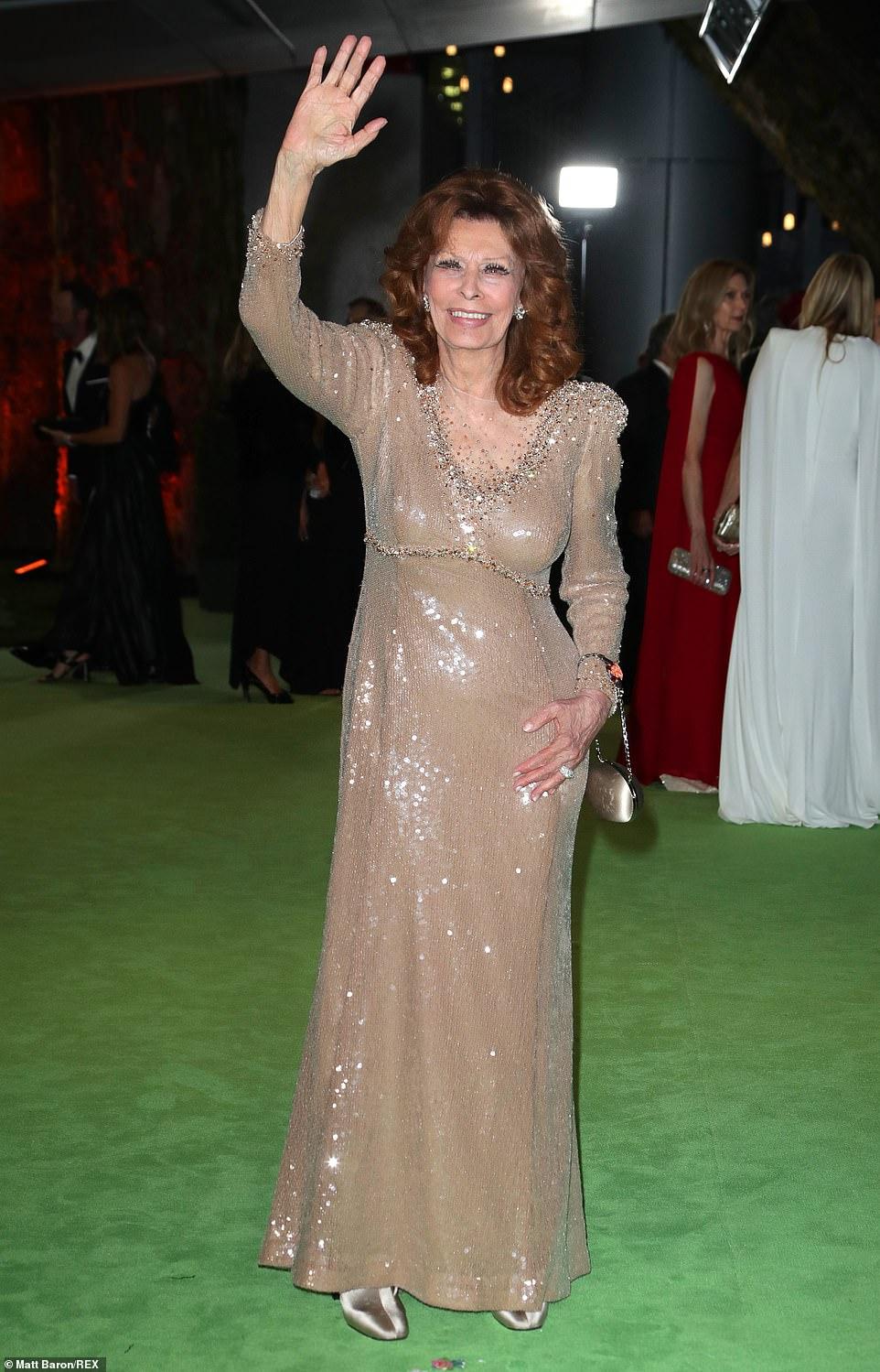 Still got it! The Italian screen legend Sophia Loren was seen ahead of her honor