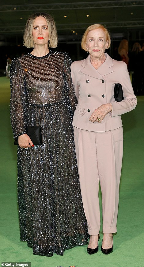 Elegant: Sarah Paulson was seen with her longtime partner Holland Taylor