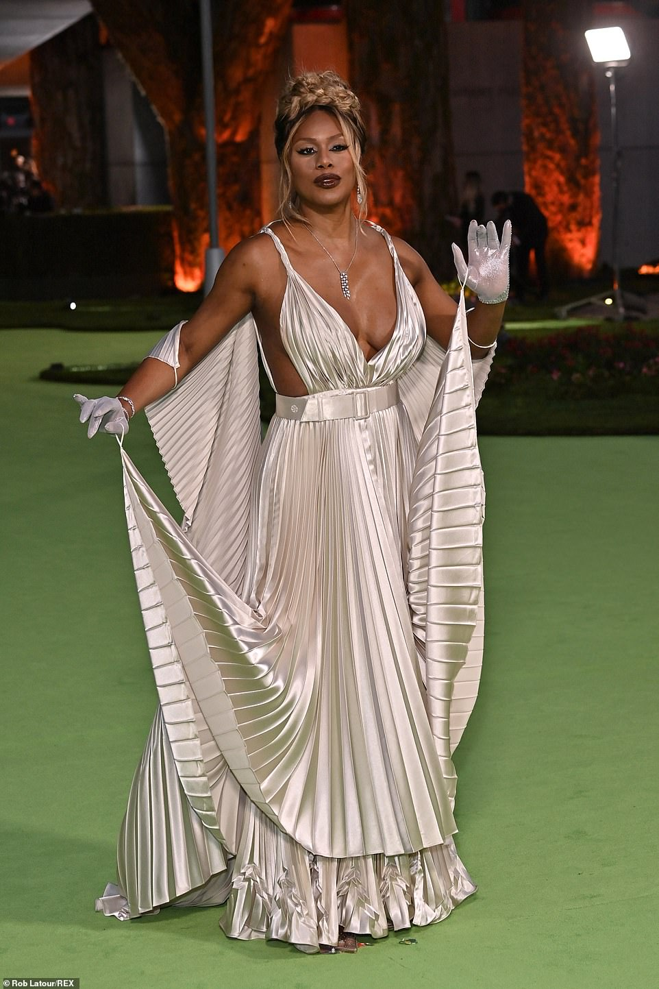 Goddess: Laverne Cox looked to channel her inner goddess