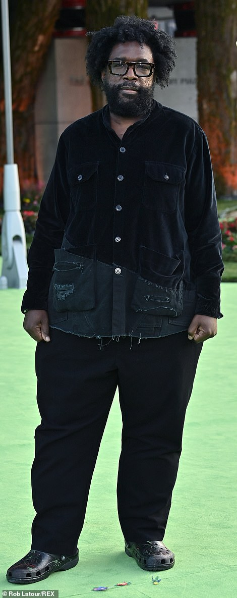 Croc and roll! Questlove was seen in his usual crocs