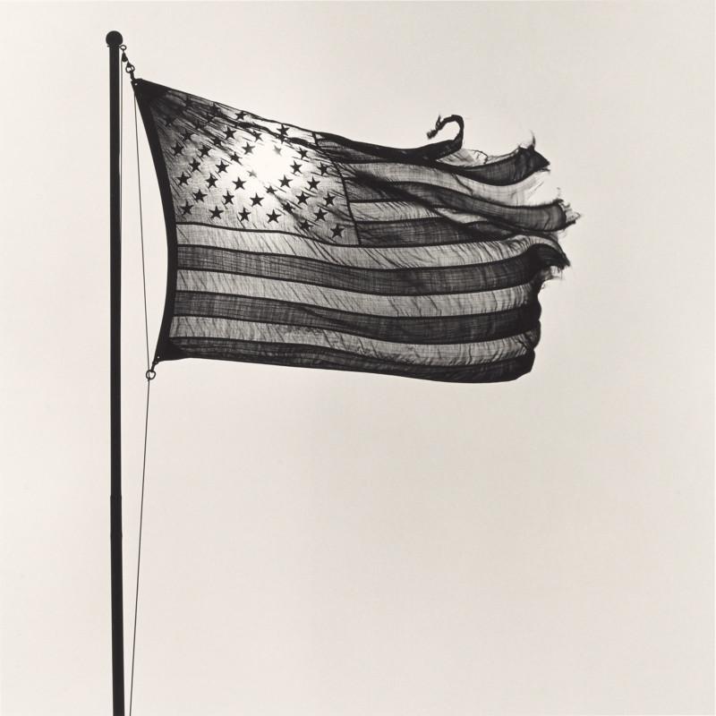 American Flag; Robert Mapplethorpe (American, 1946 - 1989); New York, New York, United States; 1977; Gelatin silver print; 35.3 × 35.3 cm (13 7/8 × 13 7/8 in.); 2011.7.6; In Copyright (https://rightsstatements.org/vocab/InC/1.0/)
